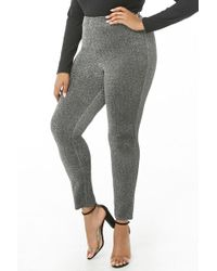 Forever 21 - Women's Plus Size Glittered Metallic Leggings - Lyst