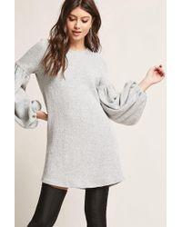 ff1111b281b Forever 21 Selfie Leslie Split Skirt Dress in Natural - Lyst