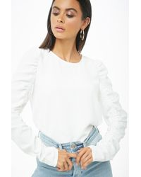 Forever 21 - Ruched Sleeve Top - Lyst