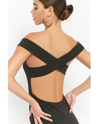 Forever 21 - Strappy Off-the-shoulder Homecoming Dress - Lyst