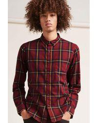 Forever 21 - Fitted Tartan Pocket Shirt - Lyst