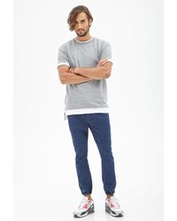 Forever 21 - Classic Wash Denim Joggers - Lyst