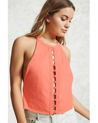 Forever 21 - Cutout Sleeveless Top - Lyst