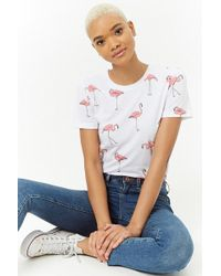 Forever 21 - Flamingo Graphic Tee - Lyst