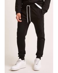 Forever 21 - Fleece Knit Jogger Trousers - Lyst