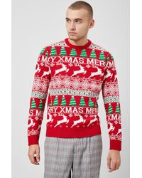 Forever 21 - 's Merry Christmas Graphic Jumper - Lyst