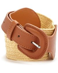 Forever 21 - Faux Leather & Woven Waist Belt - Lyst