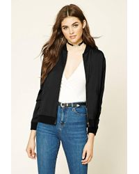 Forever 21 - Imperfectly Perfect Bomber - Lyst