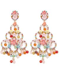 Forever 21 - Floral Drop Earrings - Lyst