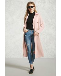 Forever 21 - Double-breasted Trench Coat - Lyst