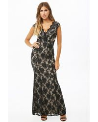Forever 21 - Floral Lace Mermaid Maxi Dress - Lyst