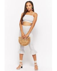 Forever 21 - Gingham Crop Cami & Capri Pants Set - Lyst