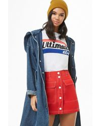 Forever 21 - Button-front Windbreaker Skirt - Lyst