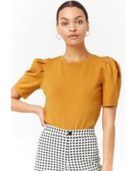 Forever 21 - Women's Puff-sleeve Top - Lyst