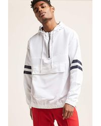 Forever 21 - 's Hooded Varsity-stripe Anorak Jacket - Lyst