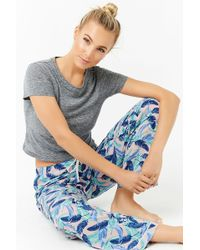 Forever 21 | Feather Print Pyjama Trousers | Lyst