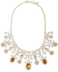 Forever 21 - Faux Gem & Rhinestone Statement Necklace - Lyst