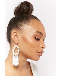 Forever 21 - Tasselled Teardrop Chandelier Earrings - Lyst