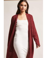 Forever 21 - Open-front Ribbed Cardigan - Lyst