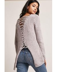 FOREVER21 - Caged Chenille Sweater - Lyst
