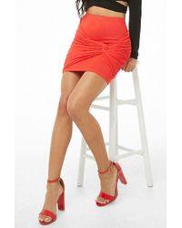 Forever 21 - Twist-front Mini Skirt - Lyst