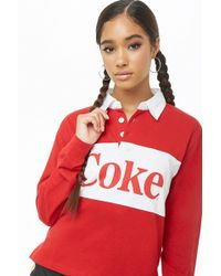 Forever 21 - Coke Graphic Henley Top - Lyst