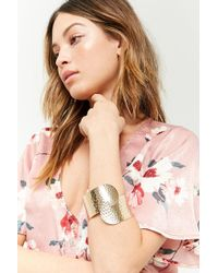 FOREVER21 - Hammered Wrap Bracelet Cuff - Lyst