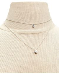 Forever 21 - Layered Faux Gem Necklace - Lyst