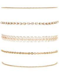 Forever 21 - Laurel Leaf & Rhinestone Bracelet Set - Lyst
