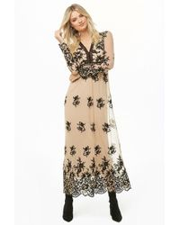 Forever 21 - Embroidered Maxi Dress - Lyst