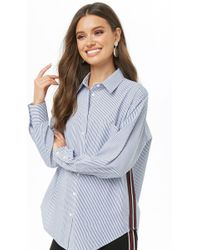 Forever 21 - Pinstriped Button-up Shirt - Lyst