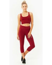 4f275a3f8a Forever 21 Active Seamless Capri Leggings in Blue - Lyst