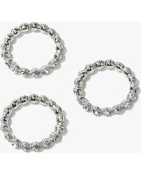 Forever 21 - Rhinestone Ring Set , Silver/clear - Lyst