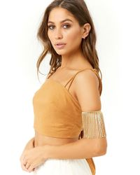 Forever 21 - Hanging Chains Arm Cuff - Lyst
