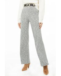 Forever 21 - Marled Ribbed Wide-leg Pants - Lyst