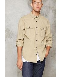 Forever 21 | Button-front Cotton Jacket | Lyst