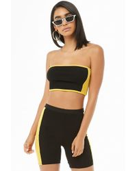 4f30ba0f70f77 Forever 21 - Side-striped Tube Top   Shorts Set - Lyst
