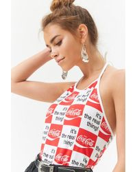 Forever 21 - Coca-cola Checkered Halter Top - Lyst