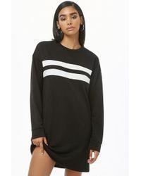 2c2abd72d99 Forever 21 - French Terry Varsity Sweatshirt Dress - Lyst