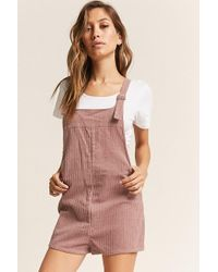 Forever 21 - Buttoned Corduroy Overalls - Lyst