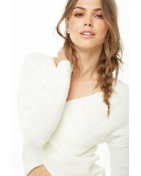 Forever 21 - Ribbed Cross-front Jumper - Lyst