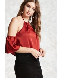 Forever 21 - Contemporary Satin Halter Top - Lyst