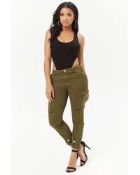 Forever 21 - Skinny Cargo Trousers - Lyst
