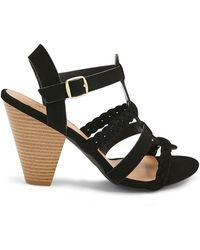 Forever 21 - Qupid Braided Strappy Heels - Lyst