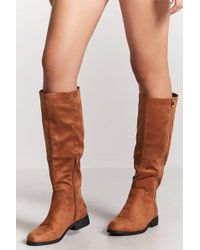 Forever 21 - Faux Suede Tall Boots - Lyst