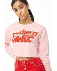Forever 21 - Cherry Coke Waffle Knit Crop Top - Lyst