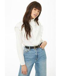 Forever 21 - Pleated-trim Poplin Shirt - Lyst