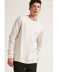 Forever 21 - Raw-cut Jumper Knit Top - Lyst