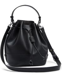 cc88658c1ad4 Forever 21 - Textured Faux Leather Bucket Bag - Lyst