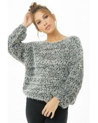Forever 21 - Multicolor Fuzzy Sweater - Lyst